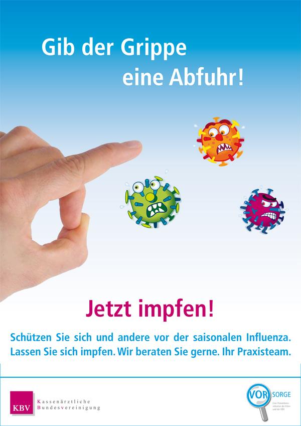 Ab sofort können Sie sich in unserer Praxis gegen Grippe impfen lassen.  Kommen Sie dazu einfach ohne Termin während der Sprechzeiten vorbei. Am besten Montag vormittag, Dienstag nachmittag oder Mittwoch vormittag.